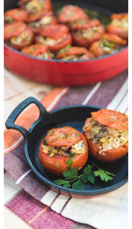 пълнени домати - средиземноморска кухня OLA