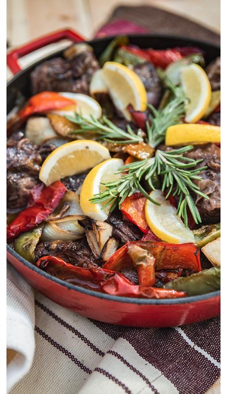 крехко телешко - средиземноморска кухня OLA